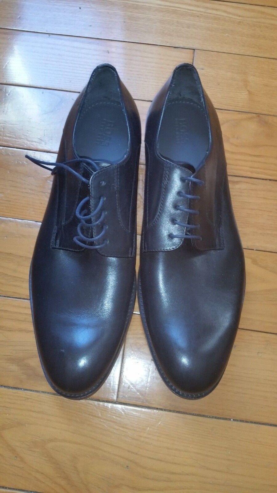 Hugo Boss Men's Sigma_Oxfr_lt Black Leather Oxfords Shoes