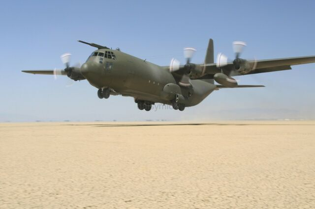 C-130 Hercules Mock Casualty Exercise Operation Desert Shield 8x12 Photo