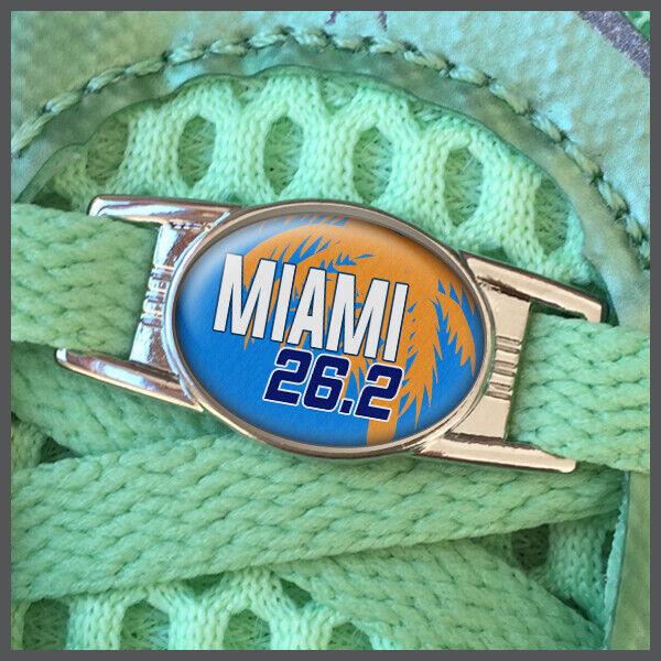 Miami 26.2 Marathon Runners Shoelace Shoe Charm or Zipper Pull