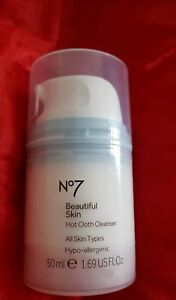 Boots-No7-Beautiful-Skin-HOT-CLOTH-CLEANSER-All-Skins-Hypo-allergenic-50ml-NEW