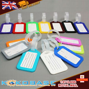 10-PCs-LUGGAGE-ID-TAGS-Suit-Colourful-Label-Name-Address-Suitcase-Sign-Nameplate