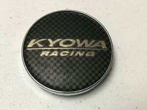 KYOWA-RACING-Custom-Wheel-Center-Cap-carbon-Fiber-Effect-Chrome-Edge-E030