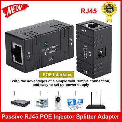 Set Splitter passiv Poe rj45 DC Adapter Netzwerke LAN IP