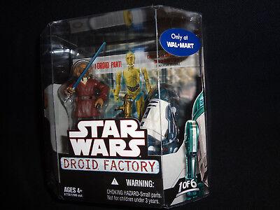 1-6 Droid Factory Star Wars 2008 WALMART 2 Pack exclusif Lot de 6