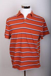 Banana-Republic-Casual-Short-Sleeve-Striped-Polo-Dress-Shirt-Men-039-s-Size-XL