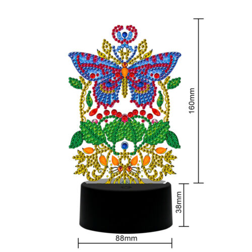 New lamp DIY LED Diamond Painting Night Light Butterfly Special Shape Home Decor