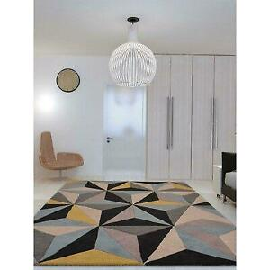 Ivy Bronx Heathrow Geometric Handmade Tufted Wool Multicolor Area Rug Anniversary Sale (Up to 60% Off) Canada Preview