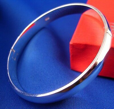 New Fashion Jewelry 925 Silver Plated Womens Charm Bangle Bracelet Nice Gift