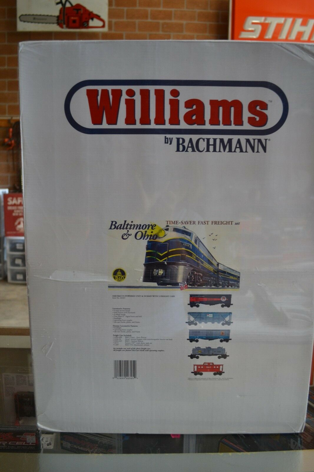Williams by Bachmann 00305 00305 00305 B&O Time Saver Fast Freight Train Set - NIB d68cb0
