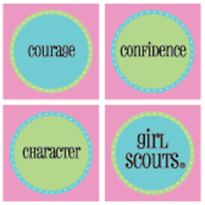 2 Girl Scout Squares Sticker Mods #18037 Scouts Scrapbooking Card Making Courage
