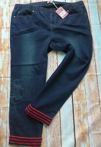 Joe-Browns-Jeans-Trousers-Size-44-to-56-Blue-Elastic-Band-847-New
