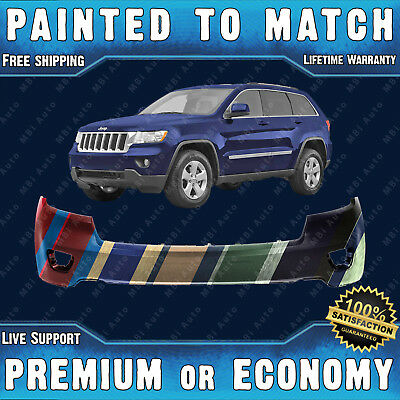 Front Bumper Cover Replacement 2005-2007 Jeep Grand Cherokee Painted To Match