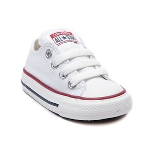 Details about Converse All Star Low Chucks Infant Toddler Optical White  Canvas Shoe 7J256