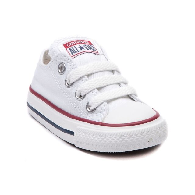Converse All Star Low Chucks Infant Toddler Optical White Canvas Shoe 7J256 aa29ad865