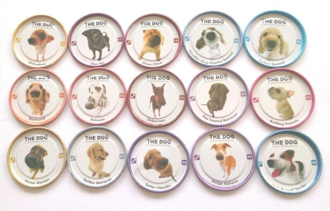 TAZOS THE DOG ARTLIST COLLECTION COLLECTION COLLECTION Complete set Toy Toys Figures Pets Pogs RARE 4543b3