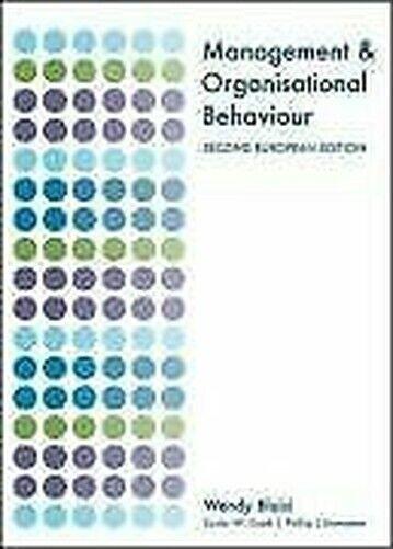 Management Und Organisational Behaviour Taschenbuch Wendy Bloisi