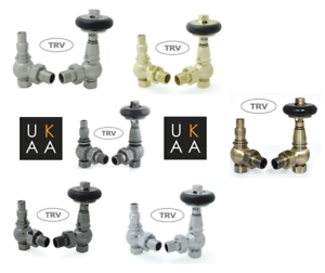 Pewter Victorian Style Amberley Thermostatic Trv Radiator Valves