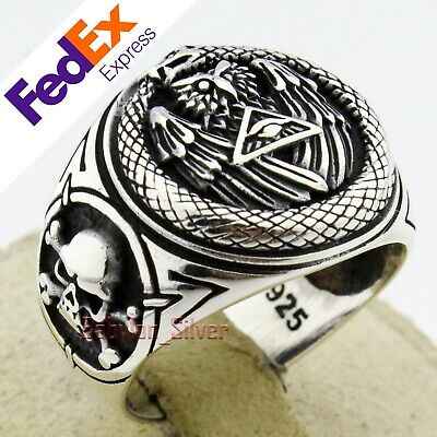 big heavy mens Ring 925 sterling Sapphire stone handmade polished all size gift