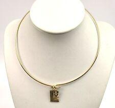 USA 1960er Hippie Halskette Kette Halsreif Choker gold-farbig LOVE Anhänger