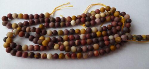 1 Strang mookait gefrostet perlas balas 4mm para la fabricación de joyería