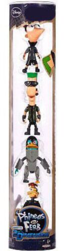Disney Phineas and Ferb Across the 2nd Dimension Exclusive PVC Figures