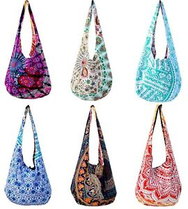 Lot Of 10 PCS Indian Cotton Reversible Monk Bags Buddha CROSS BODY ... c74479737db0