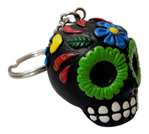 Black DOD Sugar Skull Key Chain Keychain Gift Car Keys Mom Halloween Skeleton