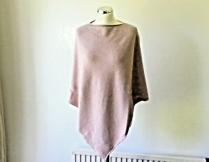 Ladies-DUSTY-PINK-Italian-Soft-Poncho-Cape-Wrap-Shawl