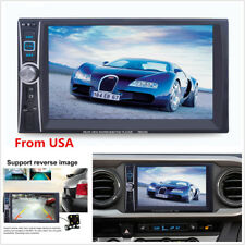 """2din 7"""" Touch Screen Bluetooth FM Radio Audio Stereo Car Mp5 Player Camera USA"""