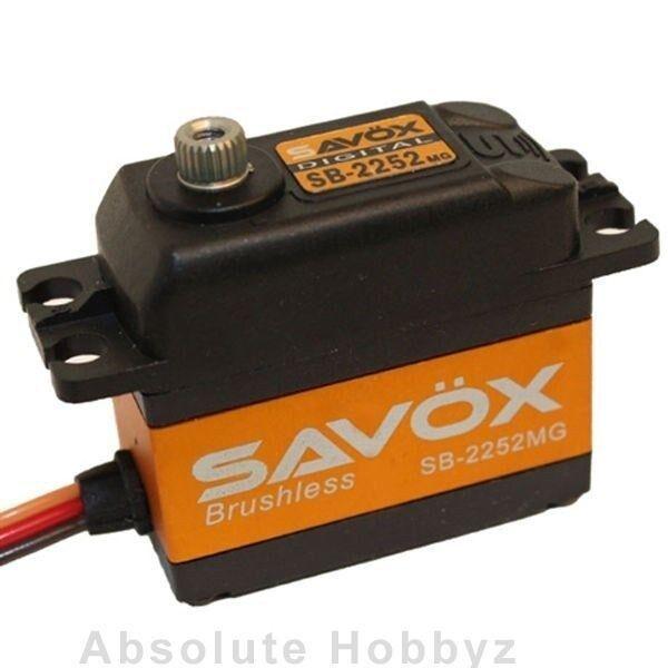 Savox Ultra Speed 6.0V Brushless Steel Gear Digital Servo - SAV-SB-2252MG