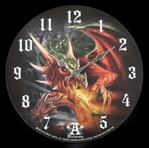 Horloge-Murale-Dragon-Draco-Basilique-alchemy-Fantastique-Decoration