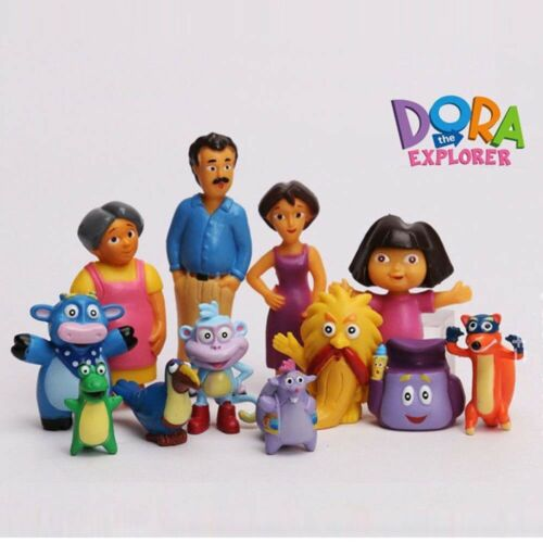 Dora the Explorer 12 PCS Movie Cartoon Action Figure Kids Toys Cake Toppers Gift