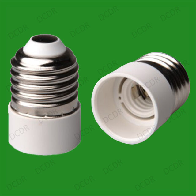 Edison Screw ES E27 To Small Screw E14 SES Light Bulb Adaptor Converter Holder