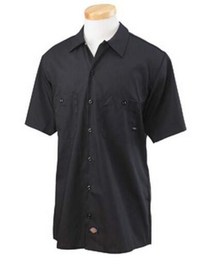 Dickies Mens Short Sleeve Work Shirt Classic BLACK NEW Workwear S-5XL