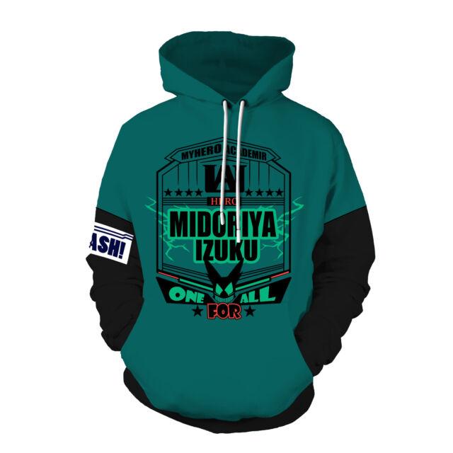 My Hero Academia Bakugou Izuku Midoriya 3D Sweatshirt Hoodie Jacket Cosplay Coat