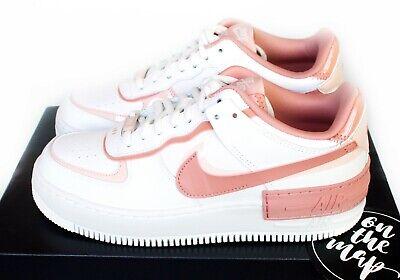Nike Air Force 1 AF1 W Shadow Quartz Pink Blush Peach UK 2 3 4 5 6 7 8 9 US New   eBay