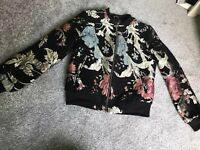 Missguided Embroidered Bomber Jacket Size 8