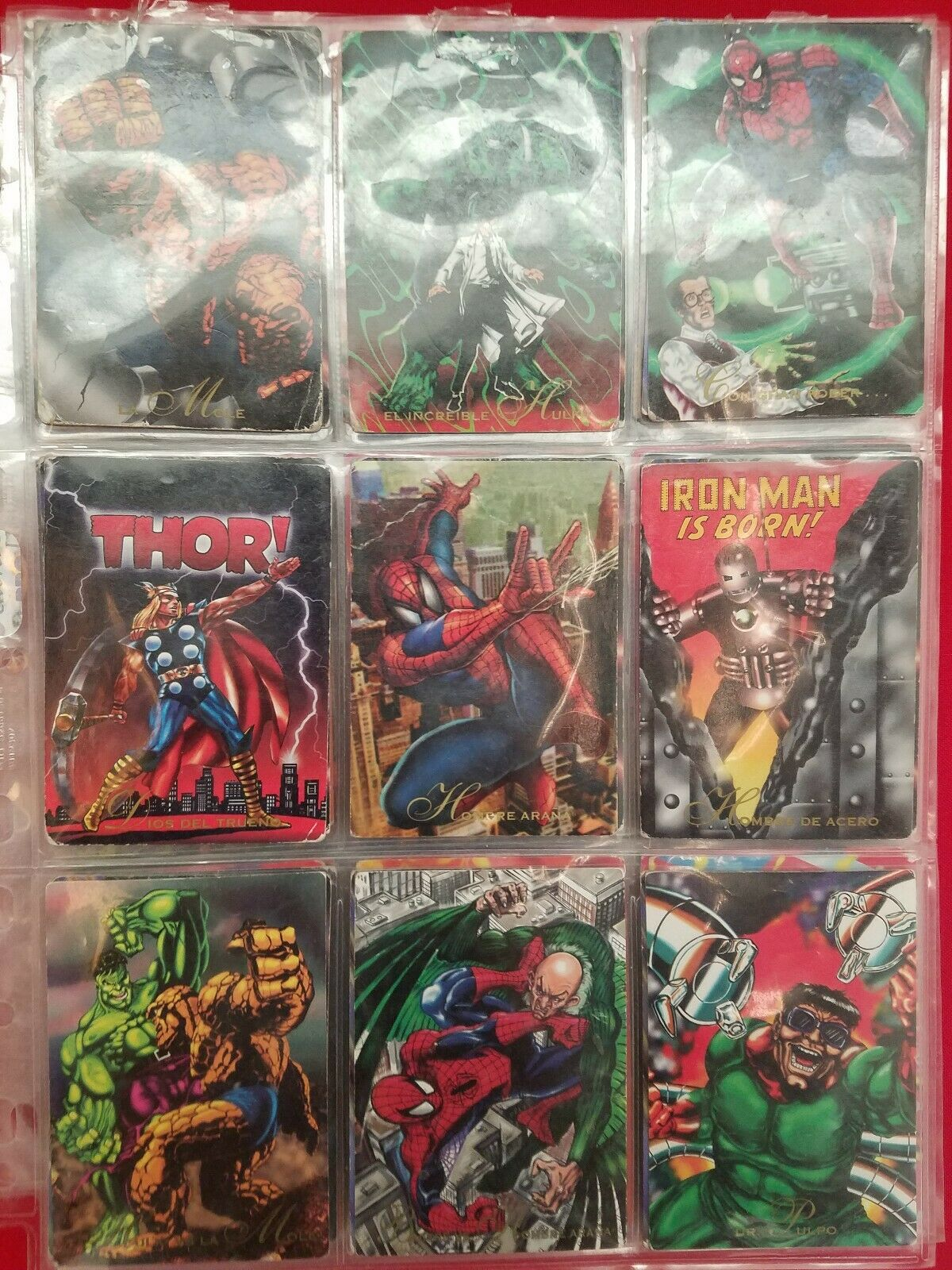 Full Collection Tarjetas Marvel Pepsi cards 1995 MEXICO 113  113