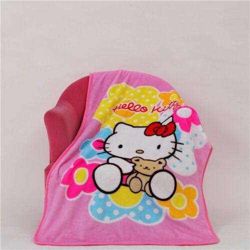 Cartoon Cute Cat Hello Kitty Kid/'s Blanket Soft Flannel Blanket Throw 70×100cm