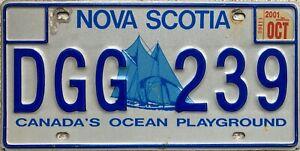 GENUINE-Canada-Nova-Scotia-Bluenose-Yacht-License-Licence-Number-Plate-DGG-239