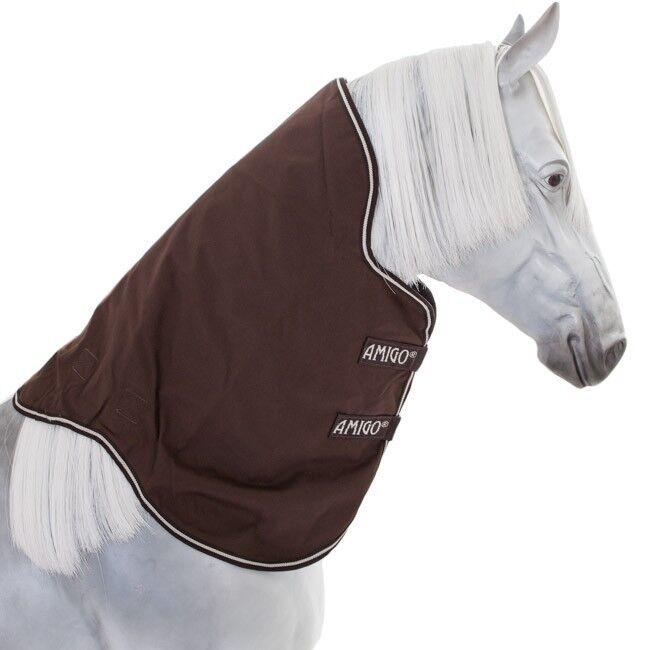 Horseware Amigo Bravo-12 Turnout Hood 0g - Chocolate & Cream - Halsteil