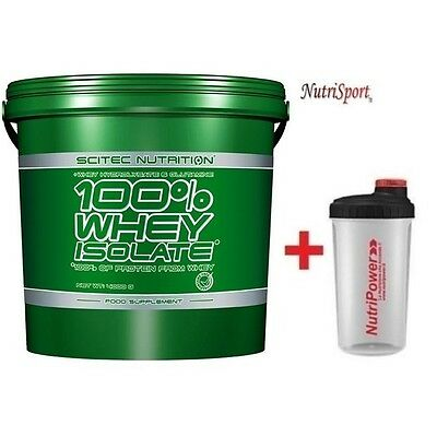 Scitec Nutrition - 100% Whey Isolate, 4000 g  Proteine del Siero Latte + SHAKER