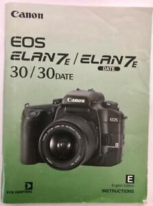 canon eos elan 7e 30 date slr camera instruction guide owner s rh ebay com EOS Elan 7E canon elan 7e instruction manual