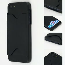 Hard Back Case Cover With ID Credit Card Slot Holder For Apple iPhone 5 5S LJ