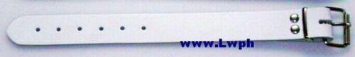 4 Leder-Riemen WEISS Rollschnalle 3,0 x 50,0 cm Kinderwagen Lederriemen Auto wow