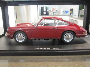 1-18-Autoart-77912-1964-Porsche-911-Rojo-Nuevo