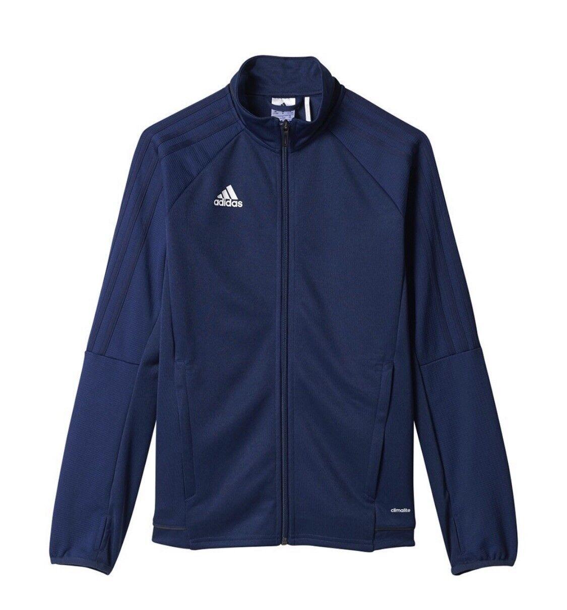 e21af41692f0 adidas Youth Tiro 17 Training Jacket Bold Blue black white Br2701 L ...