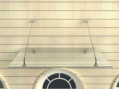 Vordächer Glasvordach 150/180/200x90 Cm Vordach Haustür Türvordach Türdach Klarglas Vsg