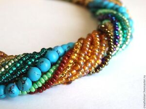 Fashion-Womens-necklace-beaded-Beads-handmade