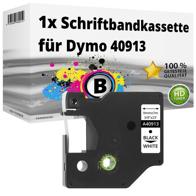 1x Etikett für Dymo 99015 Schwarz auf Weiß